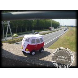 VW busje rood / wit